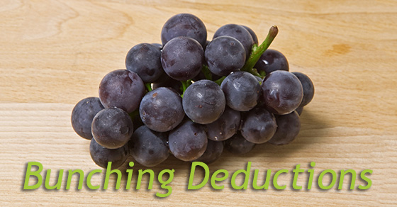 Bunching deductions
